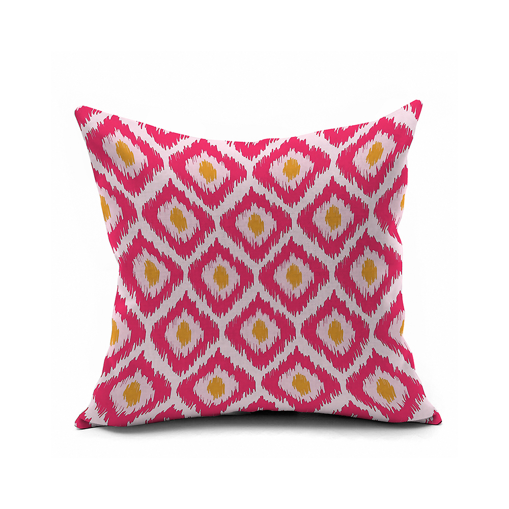 Yellow And Red Decorative Pillows : Pink And Yellow Chevron Geometric Pillow Cover 20x20,ikat Cushion Covers,Modern Decorative Throw ...