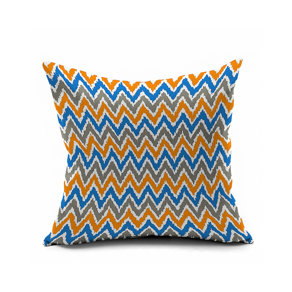 Blue And Orange Abstract Geometry Pillow Covers 20x20,Chevron Throw Pillows Cover 16x16 ...