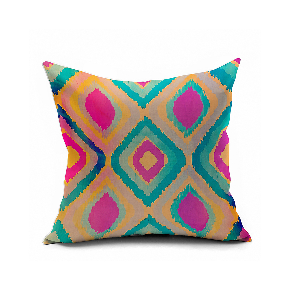 Decorative Outdoor Pillow Covers : Personalized Colorful Gradient 2 Side Printing Ikat Decorative Pillow Covers,ikat Outdoor ...