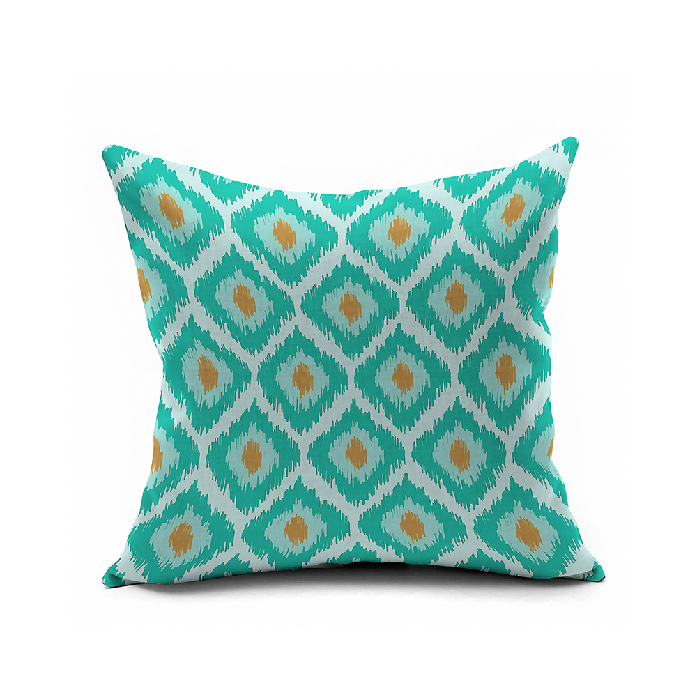 Nordic IKEA Turquoise Ikat Pillow Cover 18x18,20x20 Throw Pillow Covers,Modern Geometric ...