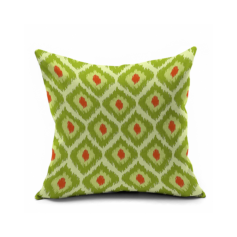 Olive Green Nordic Tribes Ikat Decorative Pillows Cover 18x18,Geometric Cushion Covers For Couch ...