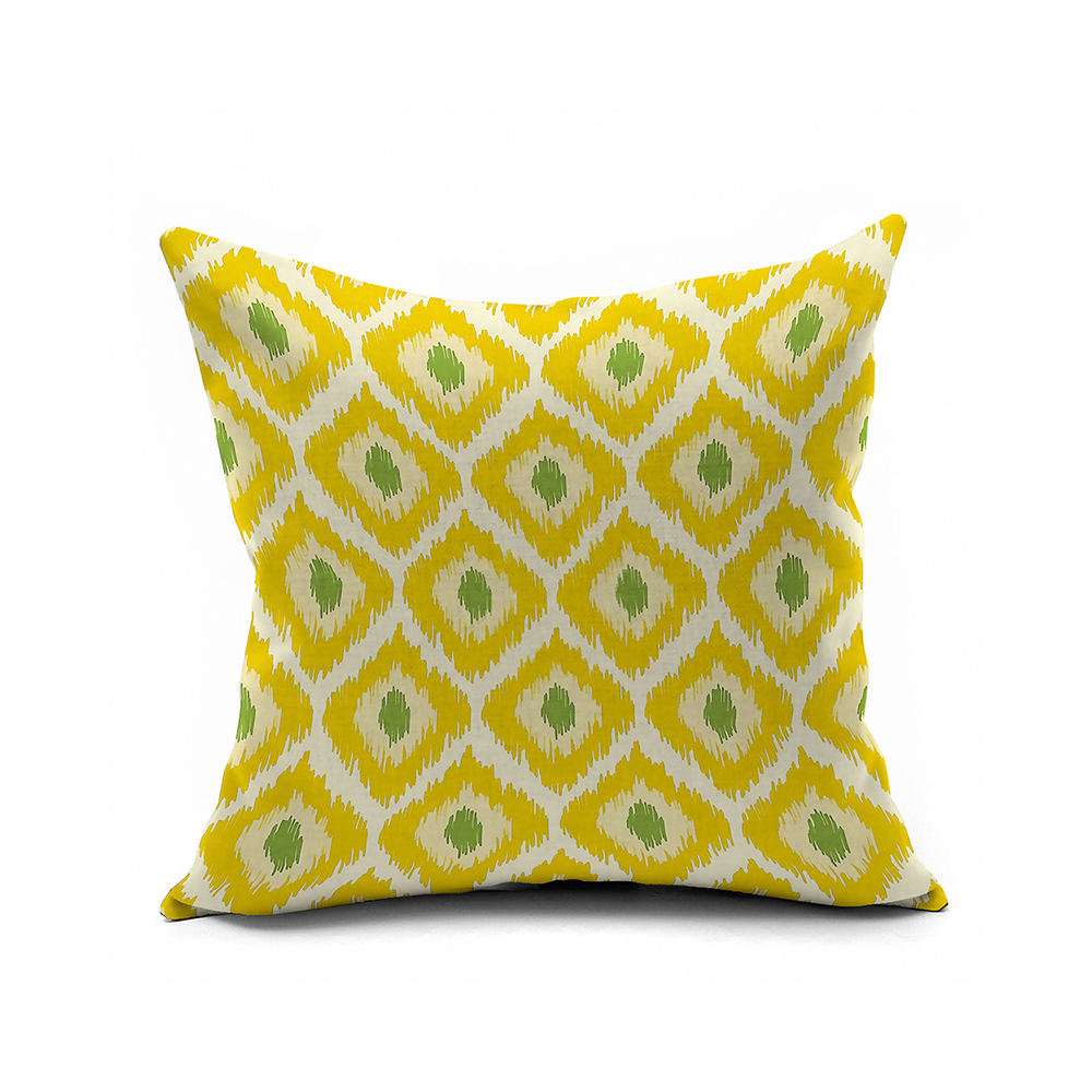 Lemon Yellow Geometric Pillow Covers 18x18,Cushion Cover 16x16,20x20 Pillow Case,ikat Decorative ...