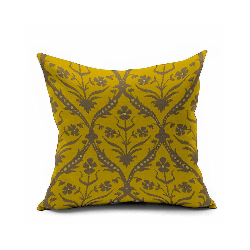 Yellow Vintage Floral Pillows,Morocco Accent Pillow Covers 16x16,18x18,20x20 Pillowcase Throw ...